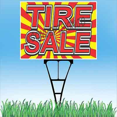 18x24 Tire Sale Outdoor Yard Sign Stake Sidewalk Lawn Used New Winter Tires