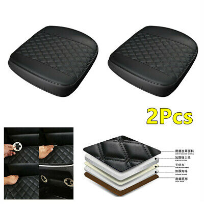 2Pcs Front Car Seat Cover Full Surround PU Leather Protector Non-Slip Mat Pad