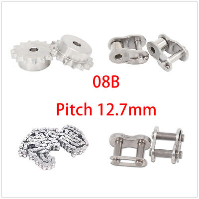 Stainless Steel 10-25 Tooth 08b Chain Drive Sprocket Roller Chain Chain Links