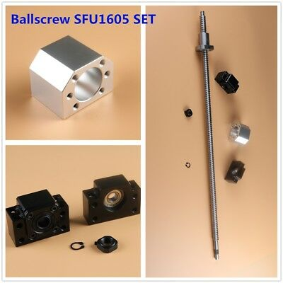 L300mm-1500mm Cnc Ball Screw Sfu1605 C7 Bkbf12 End Support Ballnut Housing