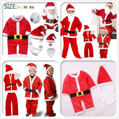 Baby/Kids Father Christmas Santa Claus Suit Costume Boys Child Girls Xmas Dress](Santa Suit Kids)