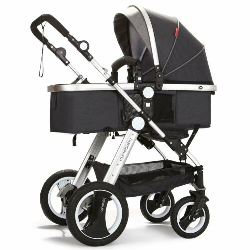 Infant Toddler Baby Stroller Carriage Cynebaby Compact Pram Strollers(BLack)