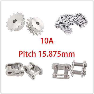 Stainless Steel 10-23 Tooth 10a Chain Drive Sprocket Roller Chain Chain Links