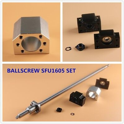 Cnc Ball Screw Set Sfu1605 With Nut L250-1050mm Bkbf12 Support Nut Housing
