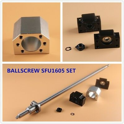 Cnc Ball Screw Set Sfu1605 With Nut L250-1550mm Bkbf12 Support Nut Housing
