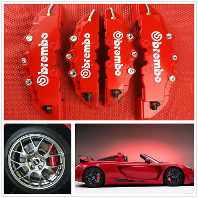 4Pc 3D Style Car Universal Disc Brake Caliper Covers Front & Rear Kits GD