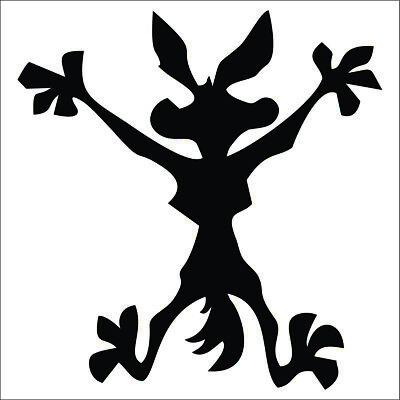 Wile E Coyote Decal / Sticker - Choose Color & Size - Road Runner, Splat,  Mirror Decal Sticker