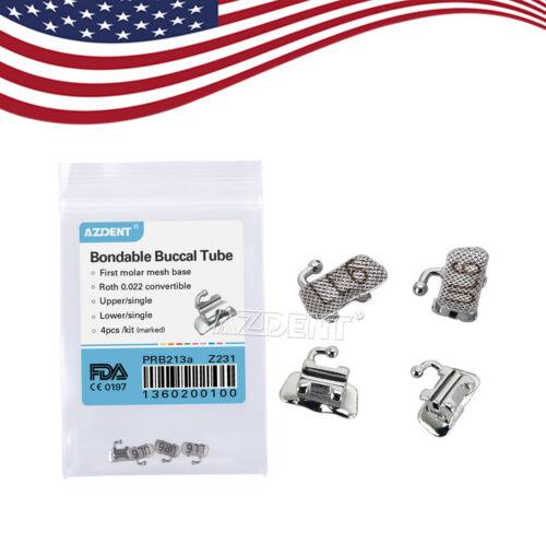 Azdent Dental Orthodontic 1st Molar Buccal Tube Bondable Convertible Roth .022