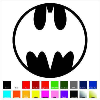 Decal Medallion - Batman Medallion Decal / Sticker - Choose Color & Size - Bat Signal
