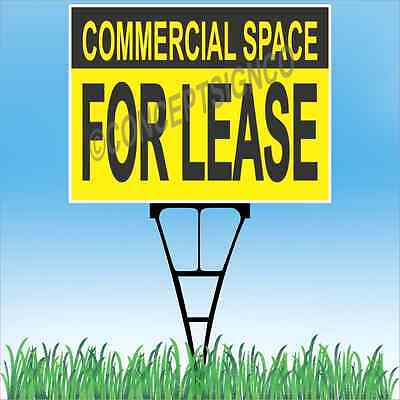18x24 Commercial Space For Lease Outdoor Yard Sign Stake Lawn Real Estate