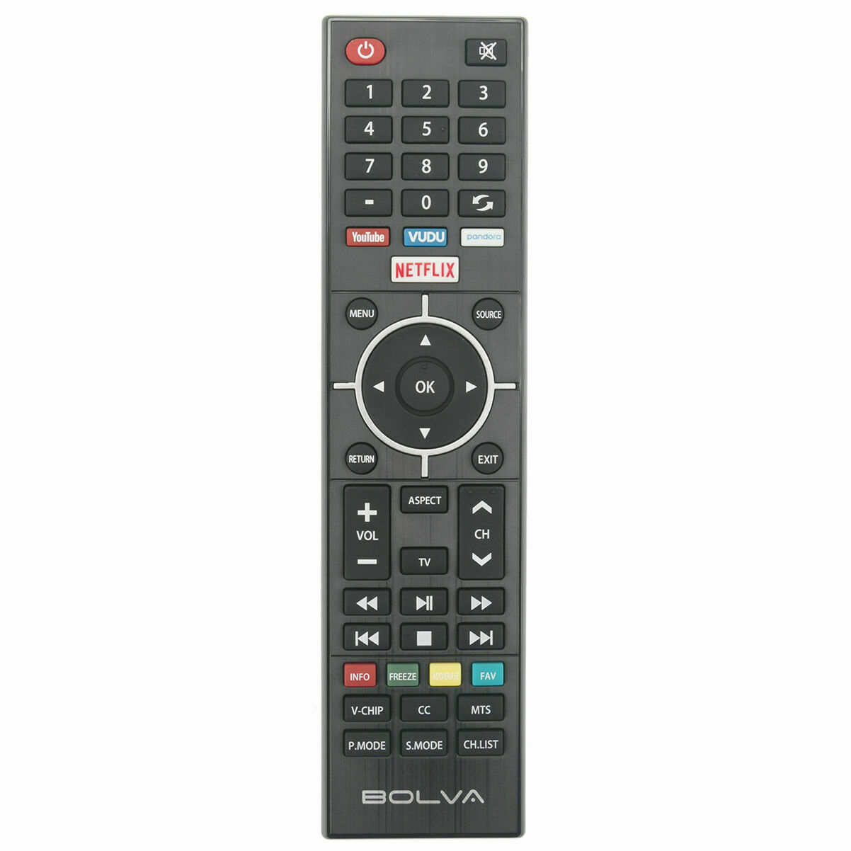 Genuine BOLVA 4K LED UHD smart TV remote Control for Most Bolva TVs