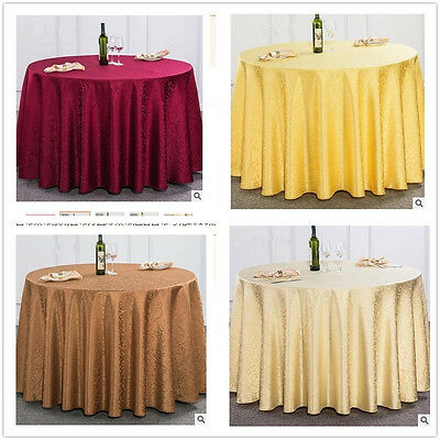 1M Dia Round Tablecloth Wedding Party Banquet Table Cover Elegant Flower HOME ## Dia Round Banquet Table