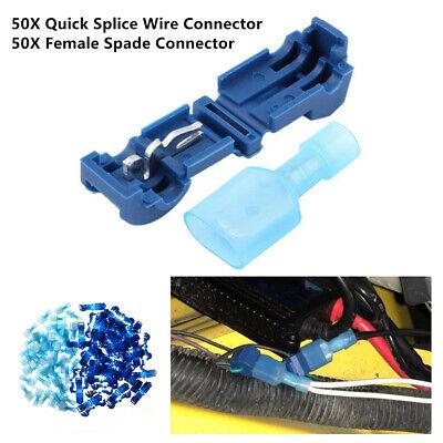 T Tap Quick Splice Electrical Wire Crimp Cable Terminals Connectors Combo Set