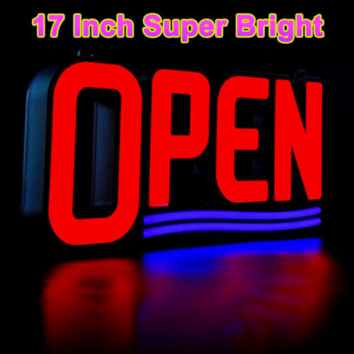 "LED Open Sign Bright Neon Light 17"" for Business Store Bar Pub Restaurant Shop"