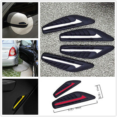 (White Universal Car SUV Protection Window Door Bumper Anti-rub Strips Crash Bar)