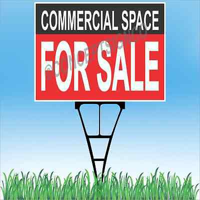 18x24 Commercial Space For Sale Outdoor Yard Sign Stake Lawn Real Estate