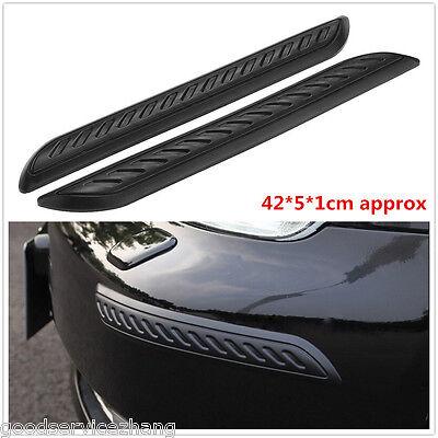 2Pcs NEW Car Rubber Bumper Corner Protector Door Guard Cover Lip Crash Bar Trim