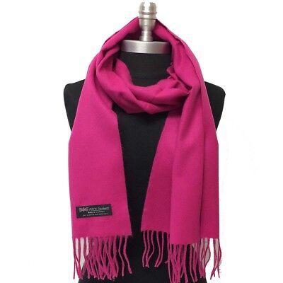 New Fashion Women's Solid Warm 100% Cashmere Scarf Wrap Shawl SCOTLAND, Hot - Hot Pink Scarf