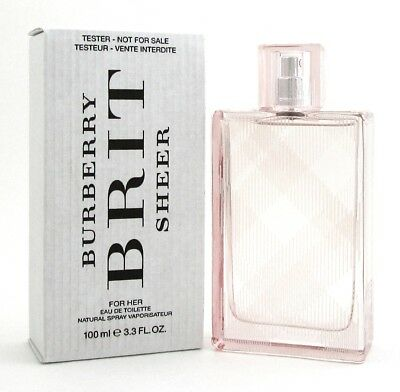 Burberry Brit Sheer Perfume by Burberry 3.3 oz. EDT Spray.Tester with Cap. Women
