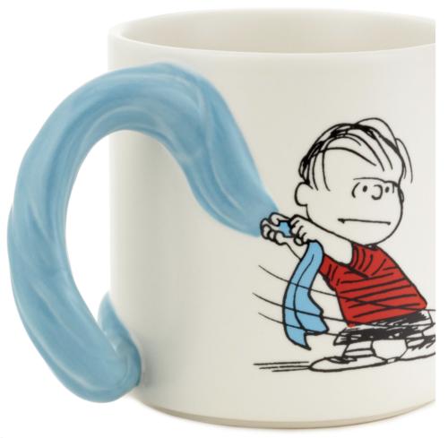 Hallmark Peanuts Linus and Snoopy Dimensional Blanket Coffee Mug New