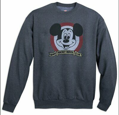 Disney Official Mouseketeer Mickey Mouse Club Crew Neck Pull Over Sweatshirt