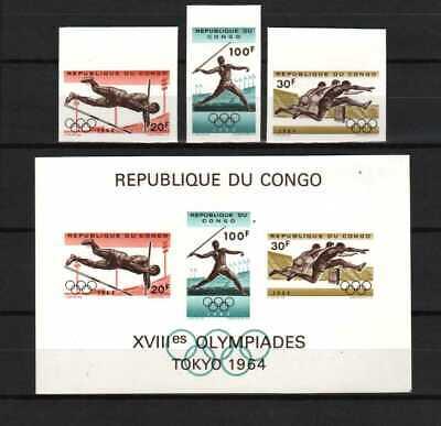 Belgisch Congo Belge Rep. Congo n° 549A/550A + BL14 MNH Olympic Games c30.00Eu
