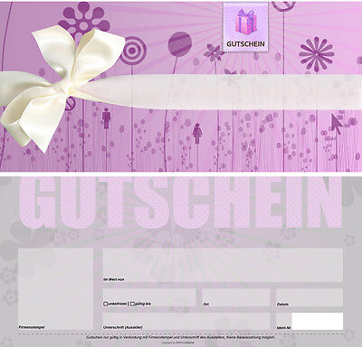 25 Stk. Geschenkgutscheine - Blanko Gutscheine - Wertgutscheine - //