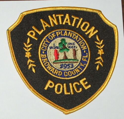 CITY OF PLANTATION POLICE Nroward County Florida FL FLA PD patch
