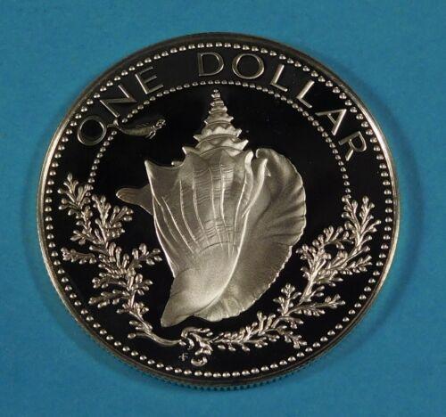 1977 BAHAMA 1 DOLLAR COIN - Silver - PROOF