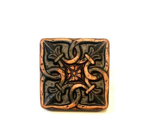 "Gordion 2""x2"" Metal Matte Copper Resin Decor Insert Accent Art Craft (BOX OF 10)"