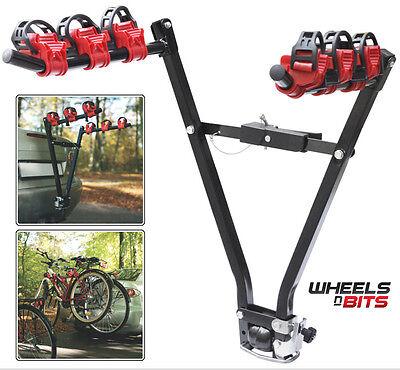 3 Bike Car Rear Tow Bar Towbar Towball Mount Cycle Rack Bicycle Carrier Folding