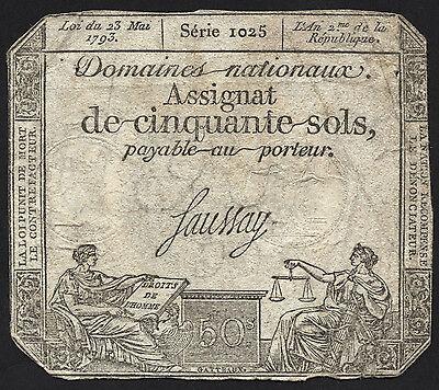 Frankreich / France - Assignaten - 50 Sols 1792-93 Pick A70 (4)