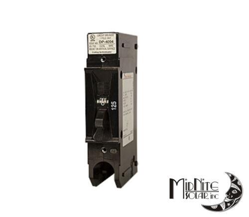 Midnite Solar MNEDC125RT 125 Amp 125VDC Panel Mount Breaker with Remote Trip