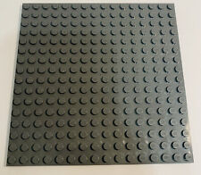 """Lego Baseplate 16x16 stud 5x5"""" Inches Gray Plate Castle Floor Used"""