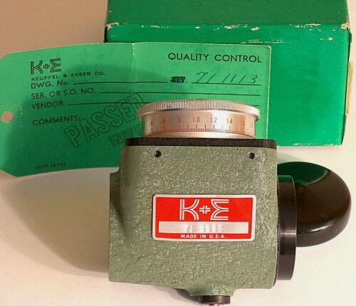 K&E metric optical micrometer 71-1113. Fits 71-3010 level 71-1014 transit, etc.