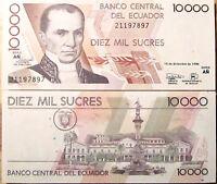 Billete , Ecuador , 10000 Sucres Año : 1998 Unc Plancha -  - ebay.es