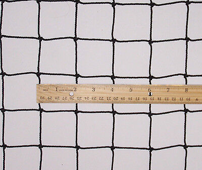 "12' x 6'  BLACK SQUARE NYLON SPORT NETTING HAY NET  2""  #42 TEST 400  LB"