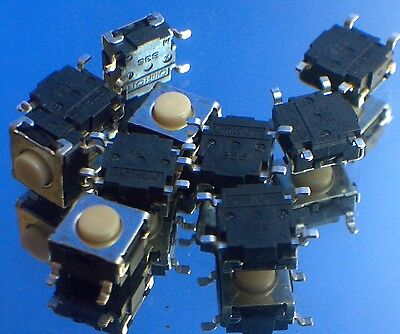 6mm X 6mm Smd Smt Tactile Switch -25pcs B3s-1000p