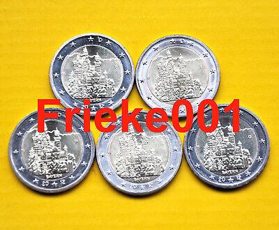 Duitsland - Allemagne - 5x 2 euro 2012 comm.(Neuschwanstein)