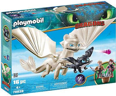 PLAYMOBIL 70038 Dragons Tagschatten Babydrachen Light Fury Drache Spielset