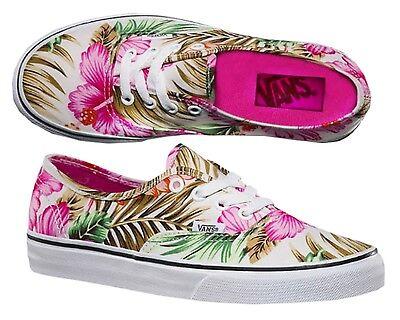 Vans Authentic Hawaiian Floral Canvas Damen Mädchen Sneaker Freizeitschuhe 34,5 Mädchen Vans