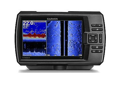 New Garmin Striker 7Sv 7  Chirp Fishfinder W  Clearv  Sidev  Scanning Sonar