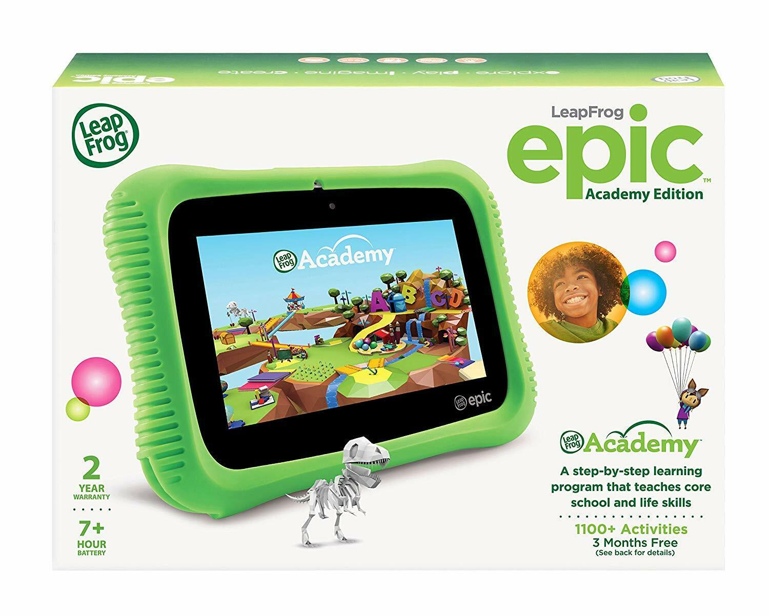 LeapFrog EPIC Academy Edition Children's Learning Tablet Gre