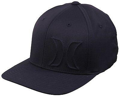 Hurley Men's Hermosa Flex Fit Hat Cap - Obsidian