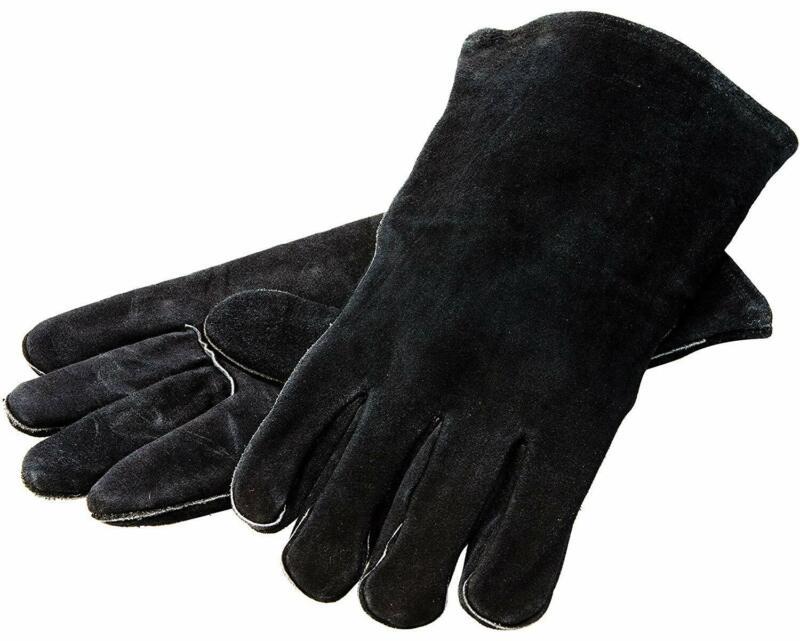 Lodge Black Leather Gloves (Pair)