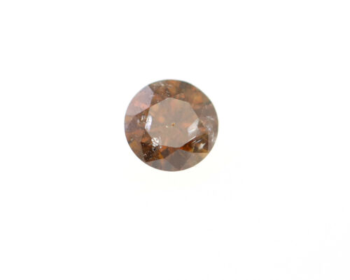 0.082 CT Natural Round Brown Loose Diamond I Clarity For Necklace Ring