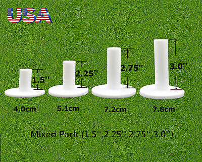 White Golf Rubber Tees Holder Tee Range Driving Practice Mat 4 Different Size US