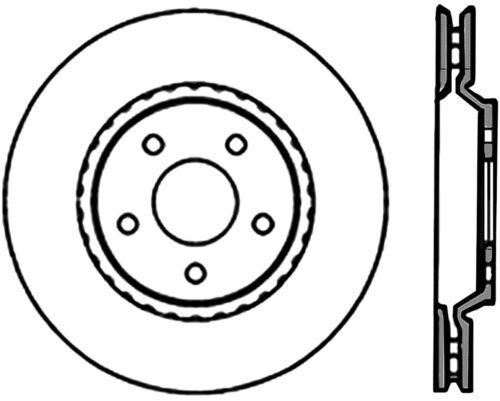 Disc Brake Rotor High Carbon Alloy Brake Disc Front Centric