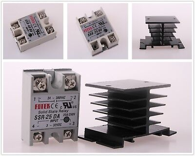 25a40a 250v Ssr-25da Ssr-40da Solid State Relay Alloy Heat Sink Fast Shipping