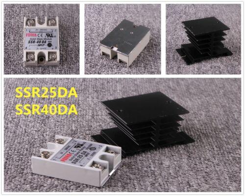 SSR-25DA SSR-40DA Solid State Relay 24-380VAC 3-32VDC 25A 40A Alloy Heat Sink